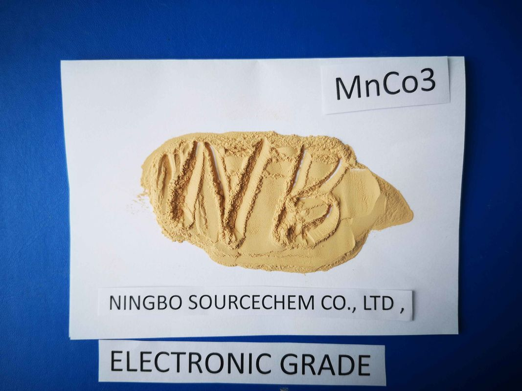 Electronical Grade Manganese Carbonate Powder , Manganese 2 Carbonate Cas 598 62 9